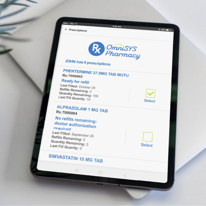 tablet with pharmacy software